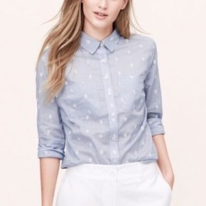 Ann Taylor Loft • Softened Button-Up.
